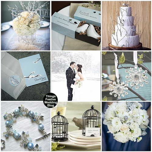 Love Birds in Winter Wedding Theme at Things Festive Blog A great idea